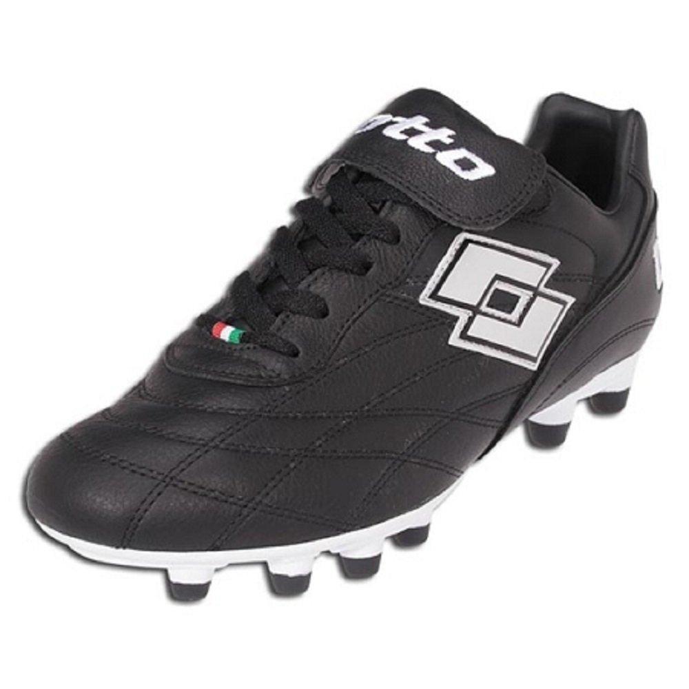 Lotto G2297 Primato LX FG JR Black//Chrome Soccer Cleat Size 5