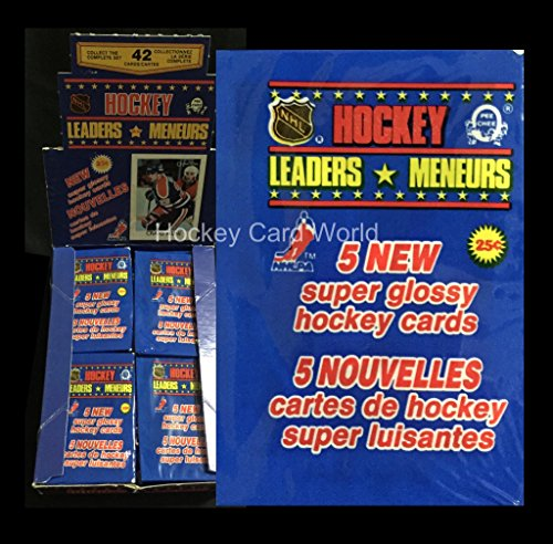 1987-88 O-Pee-Chee Minis Hockey NHL Super Glossy Leaders Pack - Look for Gretzky & (O-pee Chee Baseball Box)