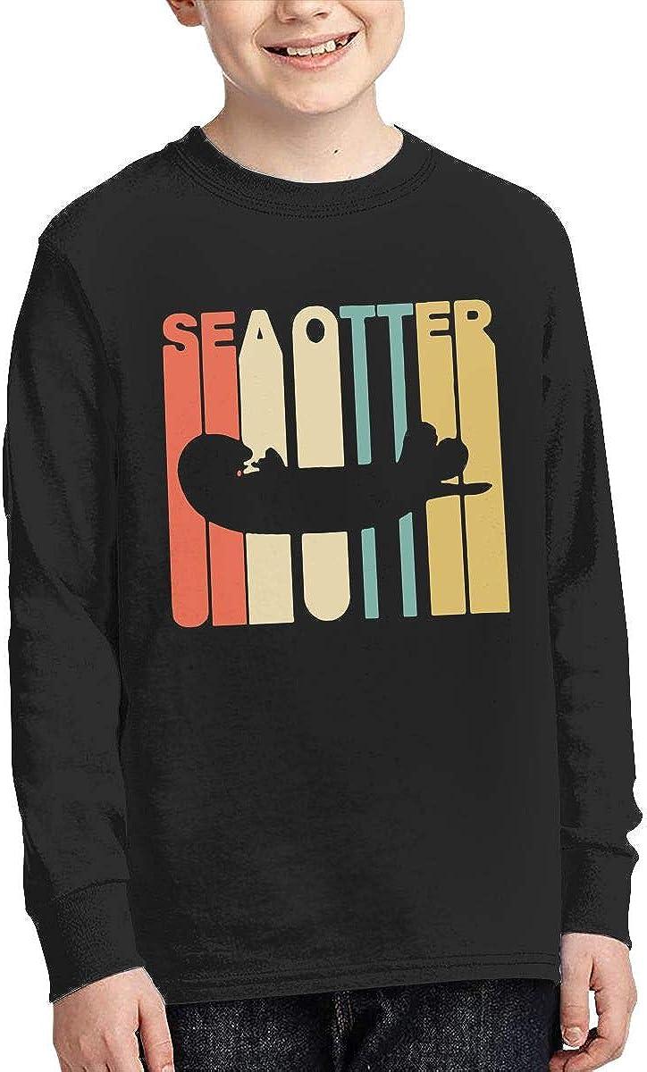 CERTONGCXTS Little Girls Vintage Style Sea Otter1 ComfortSoft Long Sleeve Shirt