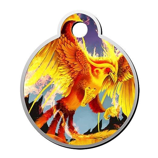 Flame Fire Phoenix - Etiquetas de identificación para mascotas ...