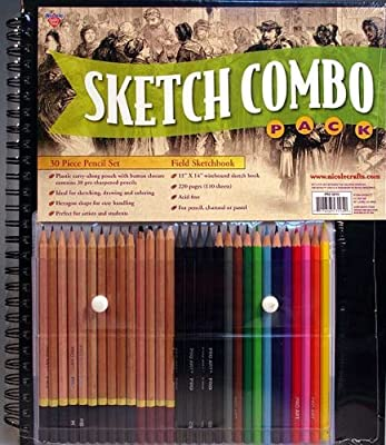 "Proart Sketch Combo Pack with 11x14"" Sketchbook & 30 Piece Pencil Set!"