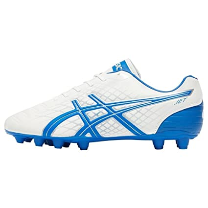 77ad085740ff33 Buy ASICS Jet CS FG Mens Rugby Boots - White Online at Low Prices in India  - Amazon.in