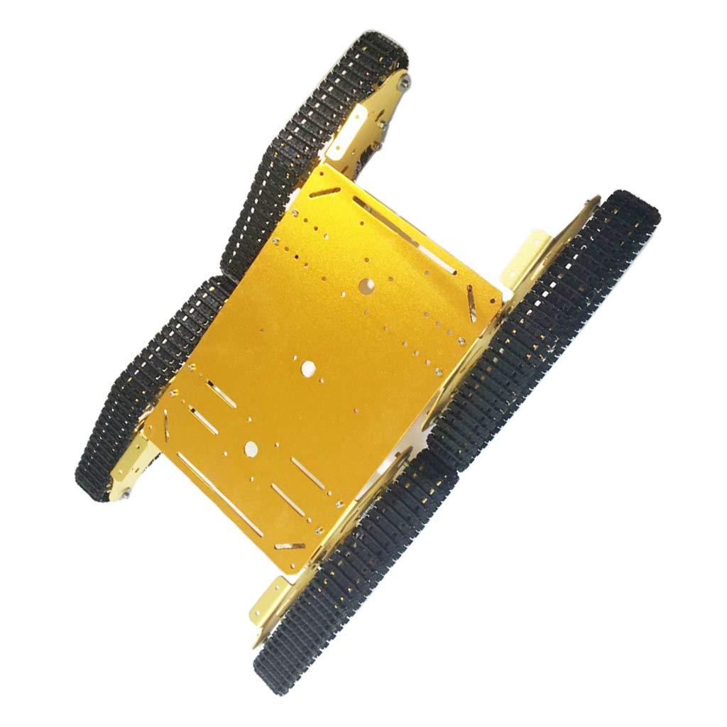 P Prettyia スマートカー シャーシ 金属製 スマートロボット ボディパーツ 耐久性 衝撃吸収 B07P5KYC48