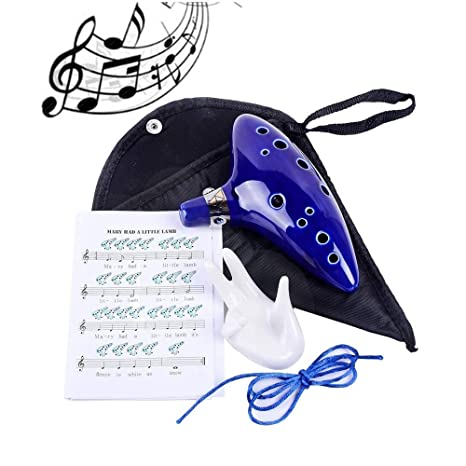 Ocarina, HFF 12 Hole Alto C Legend of Zelda Ocarina with Display Stand,  Protective Bag, Neck String and Music Sheet, Christmas Gift
