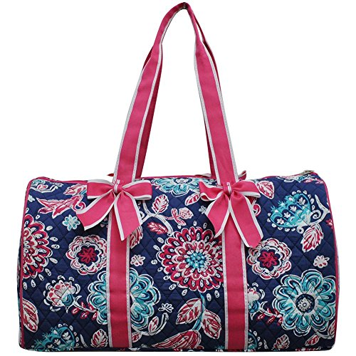 NGIL Quilted Weekend Travel Overnight 20'' Large Duffle Bag 2018 Spring Collection (Medievil Hot Pink) by NGIL (Image #3)