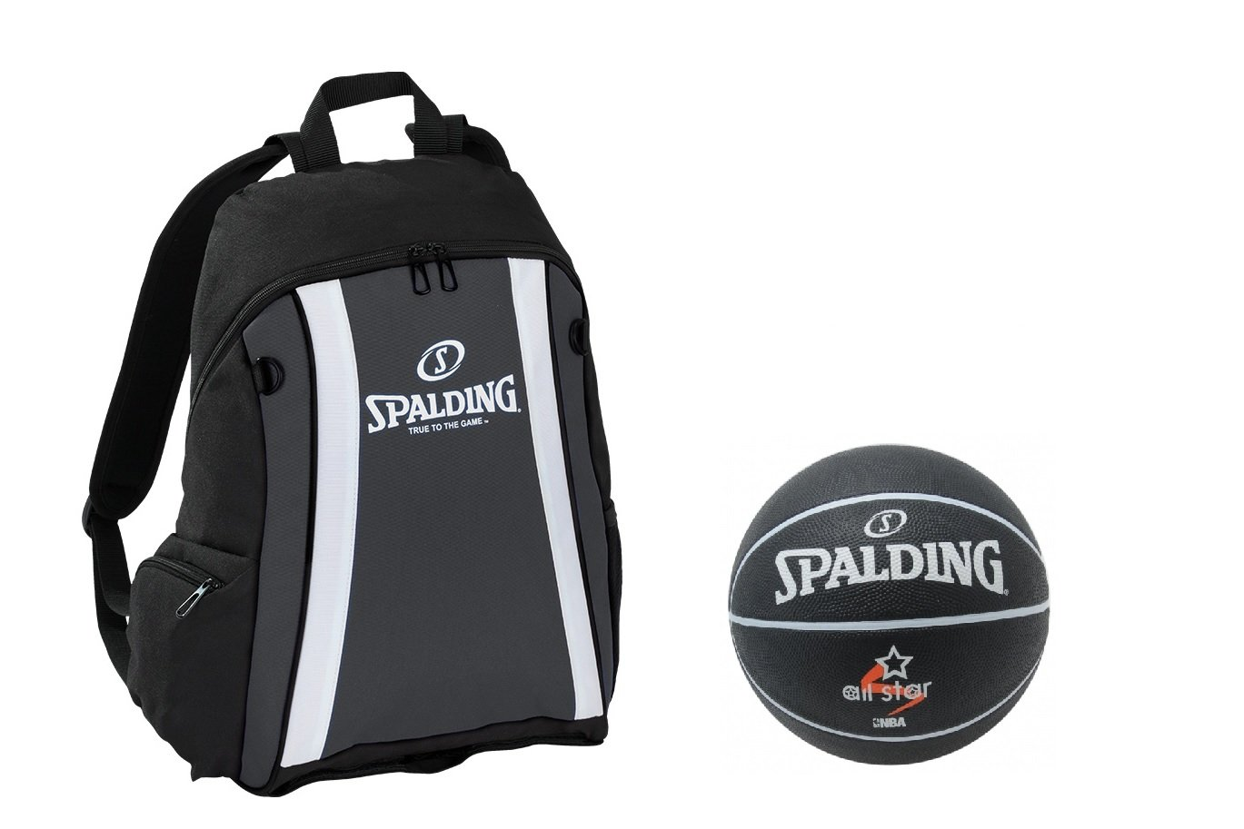 Spalding Set mochila negro con red y pelota Fútbol, 6526: Amazon ...