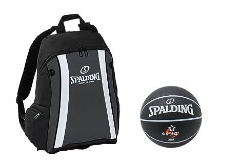 Spalding Set mochila negro con red y pelota Fútbol, 6526: Amazon ...