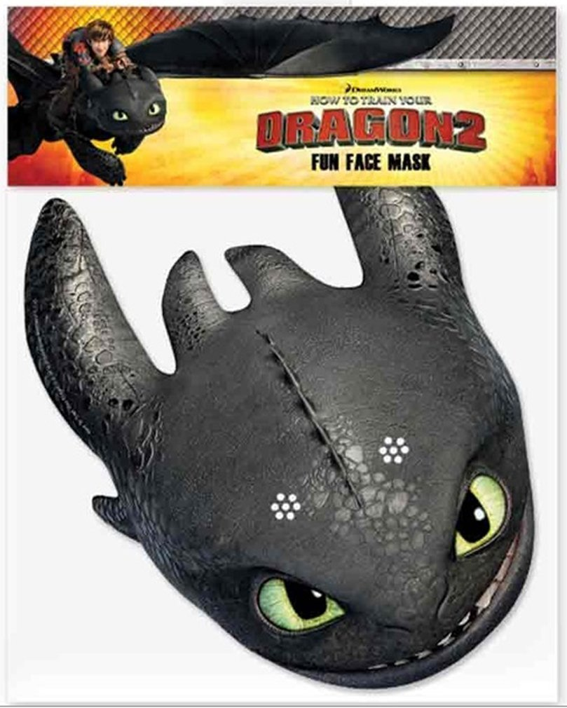 Amazon.com: Multipack - 6 Official How to Train Your Dragon 2 Face Masks: Toys & Games