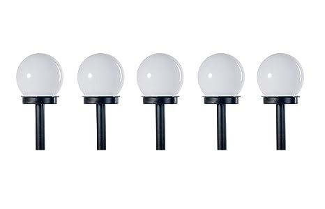 Lampioni Da Giardino Solari : 5pcs set lampada solare luci del percorso luce solare con