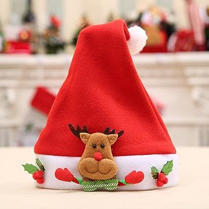 6cabede36ec95 GGG Chapeau de Noël Bonnet Père Noël pour Adulte/Enfant Pas Cher ...