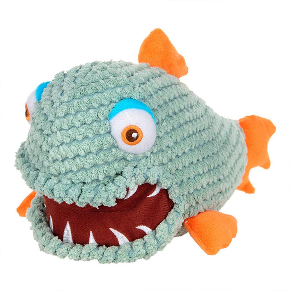 Dog Toy Can Be Sounded Plush Material Piranha Shape Dog Chewing Tooth Cleaning Toy