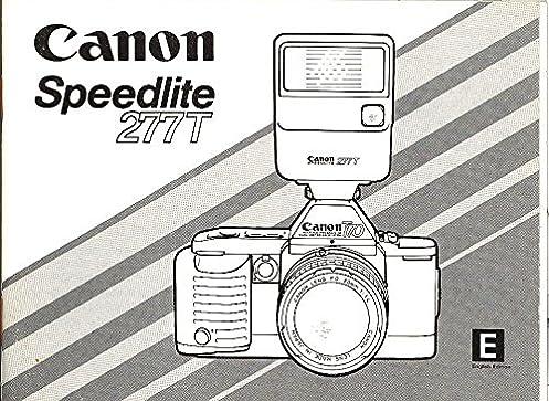 canon speedlite 277t original instruction manual canon amazon com rh amazon com Canon Speedlite 430EX II Canon Speedlite 600EX-RT