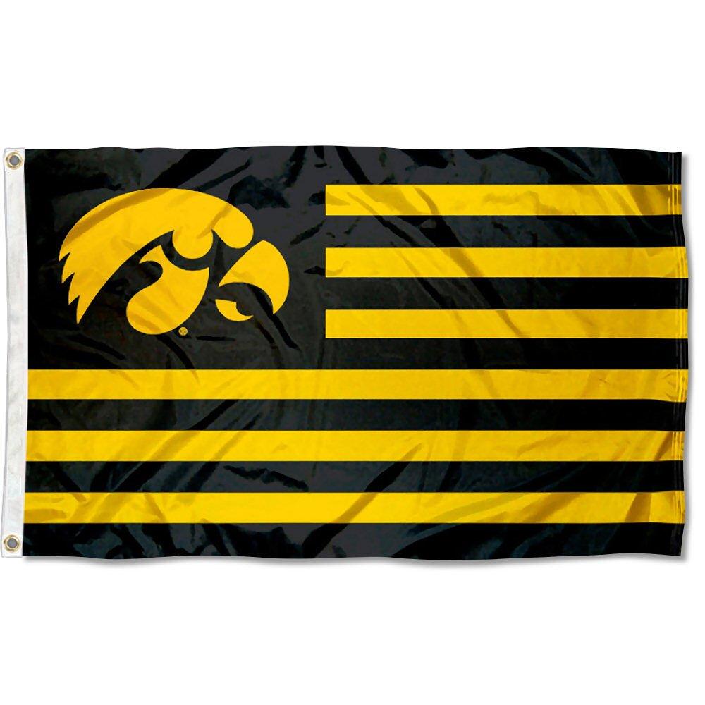 Iowa Hawkeyes Stars and Stripes Nation Flag B07CZNVCD4 15444