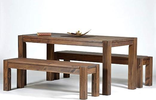 Esstisch B Ware Esszimmer Massivholz Tisch 120x80 Pinie Rio Bonito Cognac braun