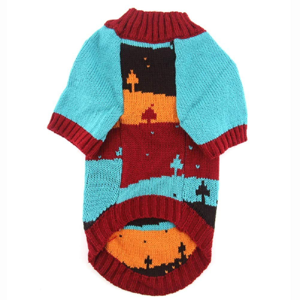 PETCARE Dog Ugly Sweater Warm Holiday Festival Pet Clothes for Small Medium Dogs Cats