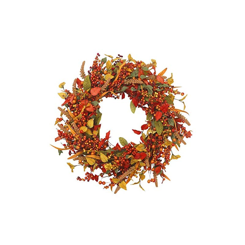 silk flower arrangements vgia 22 inch artificial fall wreath door wreath autumn wreath berry wreath fall decorations