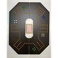 Jackaroo game for 6 players foldable dark brown board