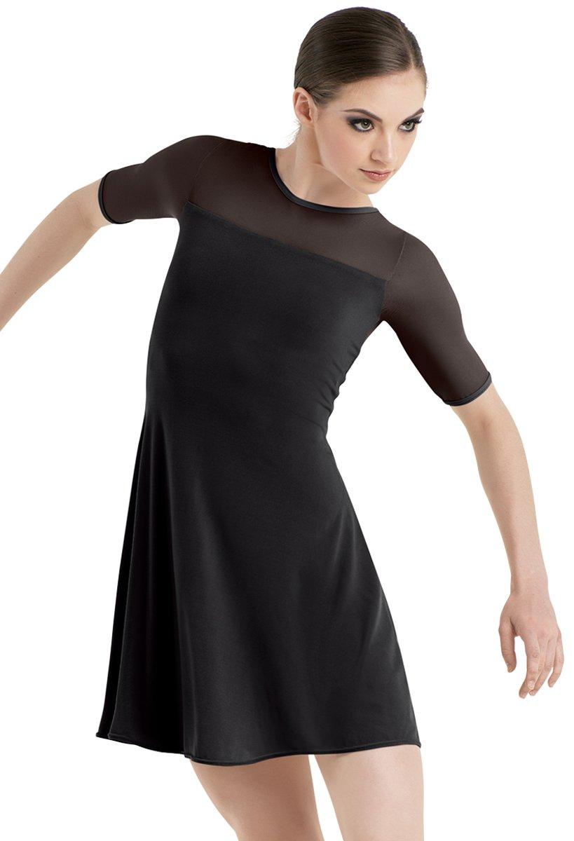 Balera Dress Girls Tunic For Dance With Mesh and Attachhed Biketard Shift Dress Black Child Medium by Balera