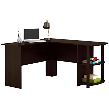 Amazon Com L Shaped Desk With Side Storage Multiple Finishes