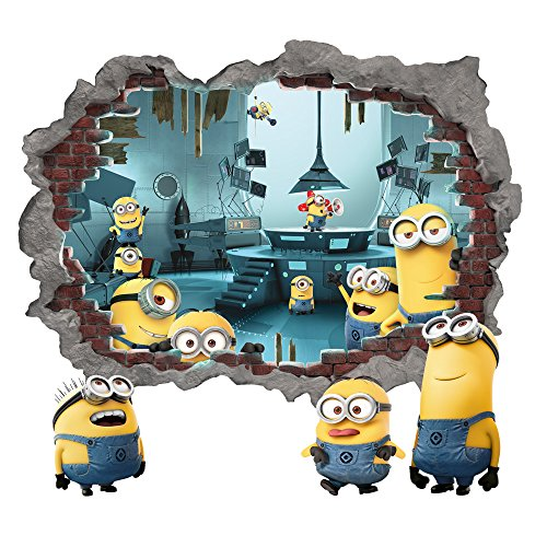 Minions Blasting In Large Wall Decal by Wall-Ah!