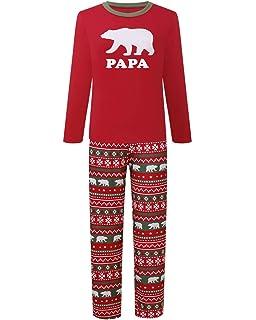 d292b11d8c ALILING Family Matching Christmas Pajamas Sets Papa Mama Kids Babys Holiday  Sleepwear Bear Nightwear