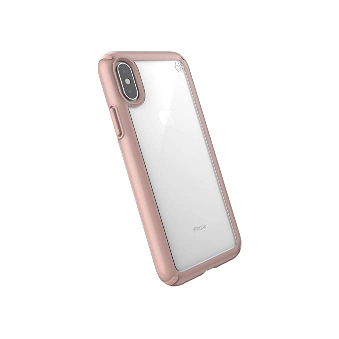 new product 38484 d0781 Speck Products Presidio Show iPhone Xs/iPhone X Case, Clear/Rose Gold