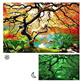 Picture Painting Of Maple Forest Lighted Canvas Wall Art For Bedroom Wall, 31,50 x 47,24 Inch.