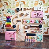 Shafa-20 European quality. Handmade Wooden Busy board, Clever Puzzles, Locks and Latches Activity Board