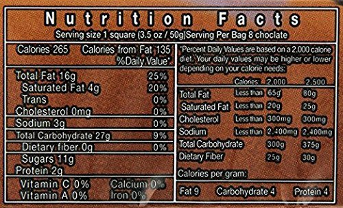 Hashahar H' Aole Chocolate Baking Chocolate Kosher For Passover 14 Oz. Pack Of 6.