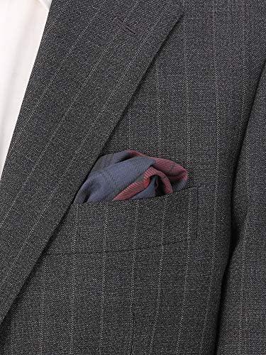 (ザ・スーツカンパニー) チェックプリント コットンシルクポケットチーフ レッド×ネイビー×ブラック