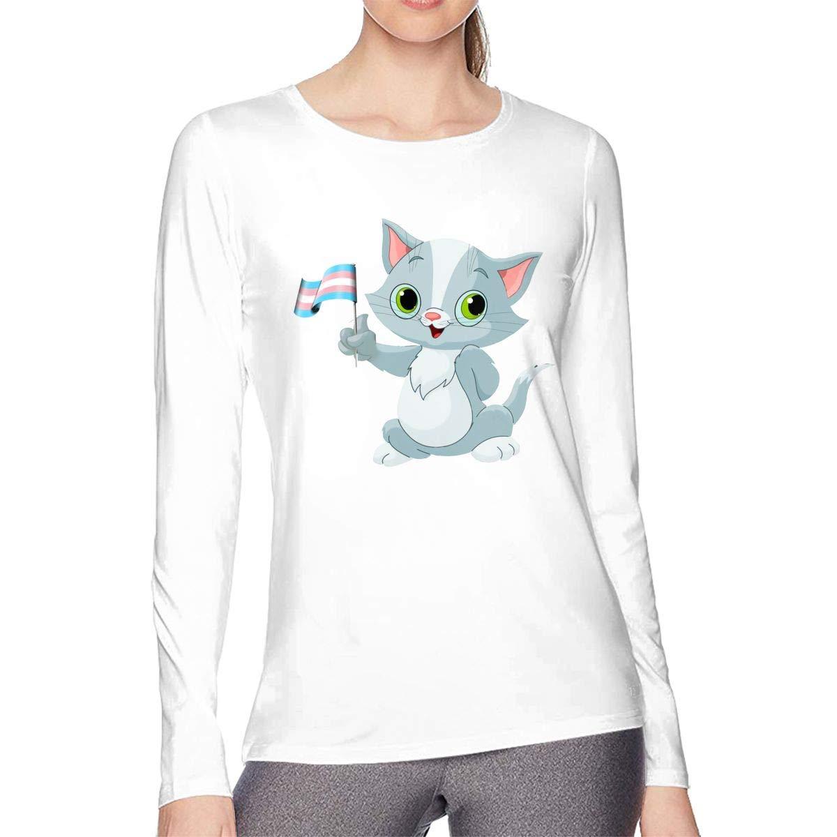 Cat Holding Transgender Flag T 3771 Shirts