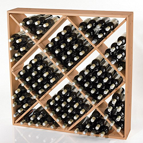 Jumbo Bin 120 Bottle Wine Rack - Natural