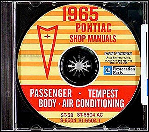 Tempest Shop /& Body Manual CD GTO Gran Prix PONTIAC 1965 Bonneville Catalina