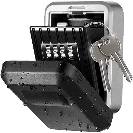 PER Caja de seguridad para llaves de pared para exteriores, caja ...