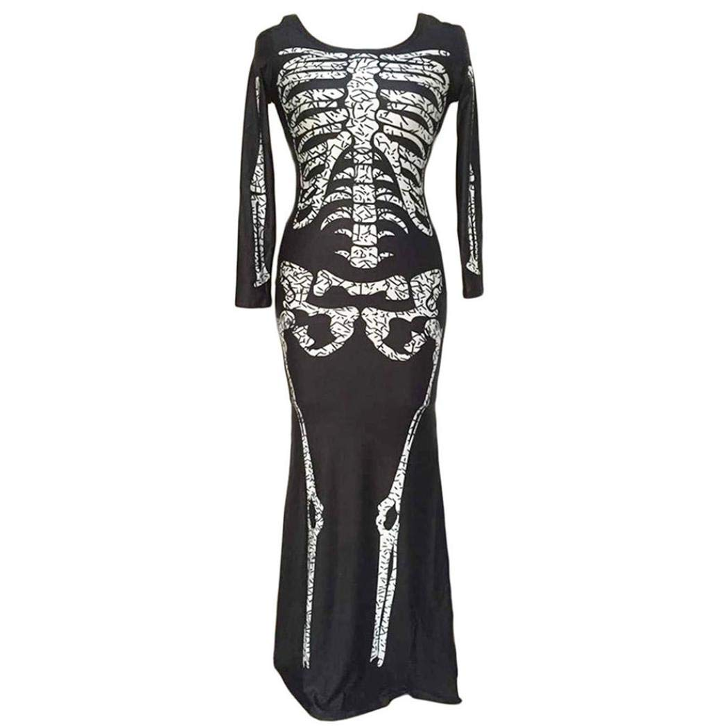 Clearance Sale! Wintialy Women Ghost Festival Horror Skeleton Skeleton Ghost Costume Party Dress M by Wintialy Dress (Image #2)