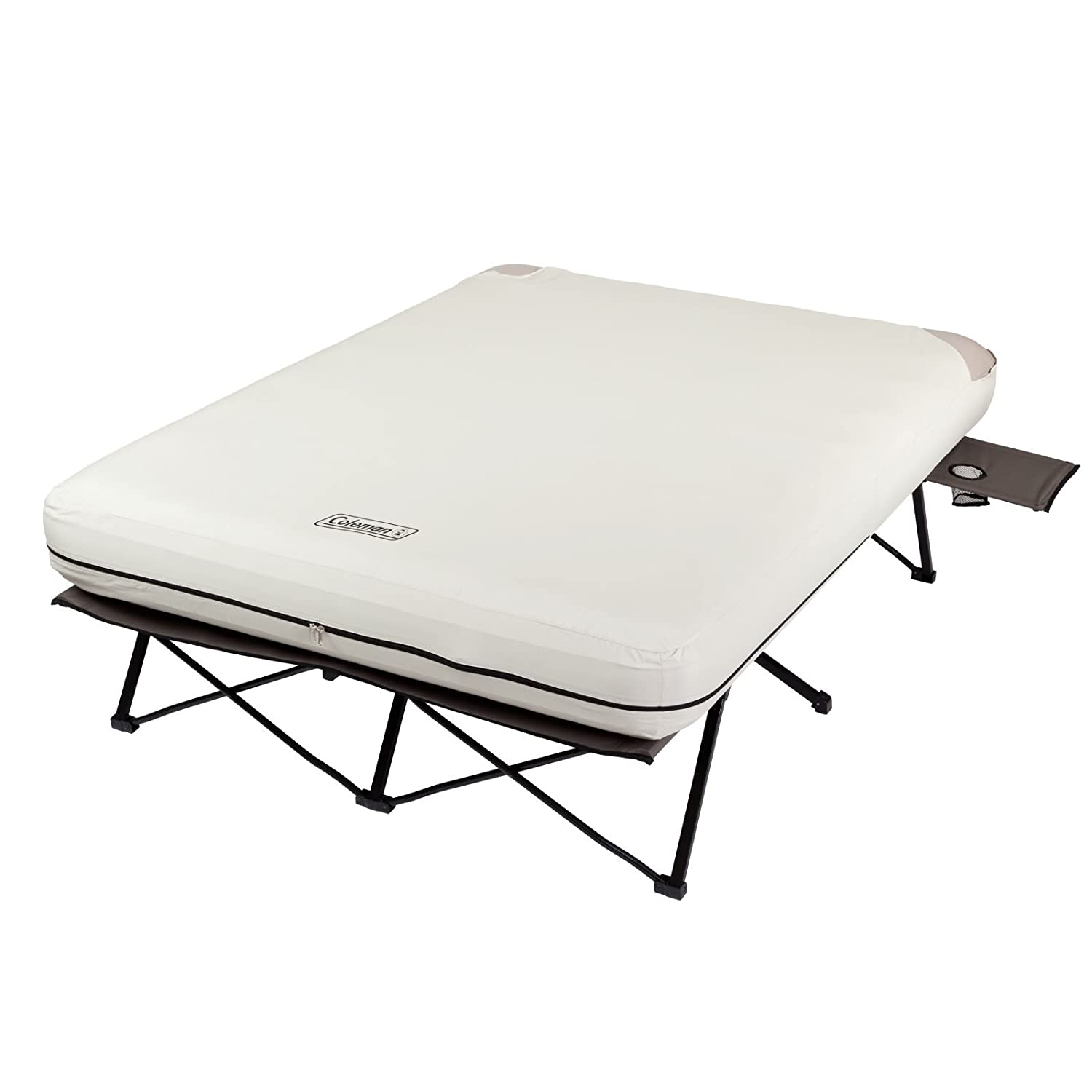 Amazon.com: Coleman Queen Airbed Folding Cot with Side Tables and ...