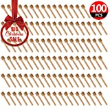 100 Pack of Mini 3 Inch Wood Honey Dipper Sticks, Individually Wrapped, Server for Honey Jar Dispense Drizzle Honey, Wedding Party Favors