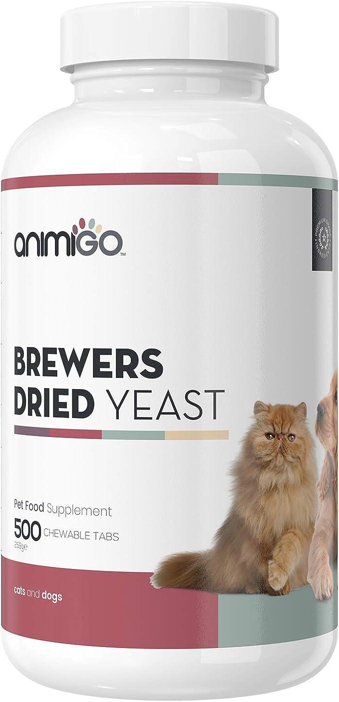 Animigo Pastillas de Levadura de Cerveza para Perros y Gatos | Suplemento Natural para Piel y Pelo Brillantes | con Vitamina B, Magnesio, Biotina ...