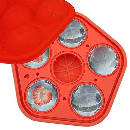 Molde de silicona para cubitos de hielo con tapa, forma de ...