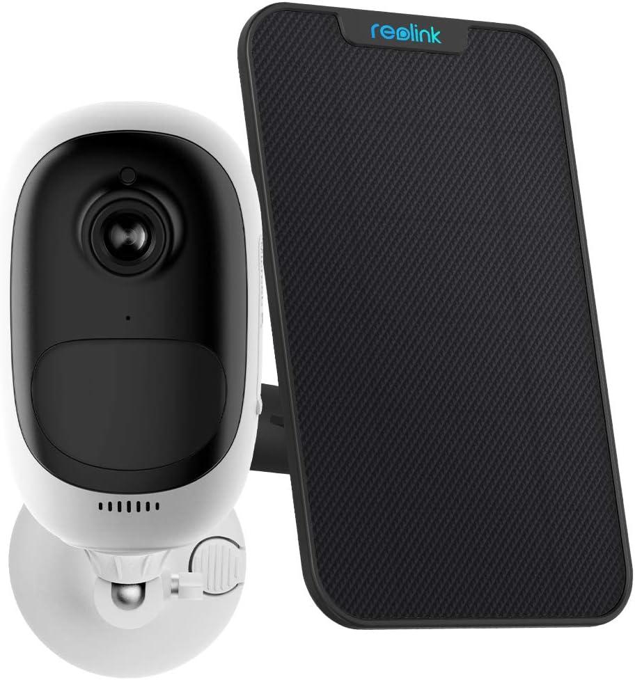 Reolink Argus Pro Caméra Surveillance sur Batteries avec Panneau Solaire HD 1080P...