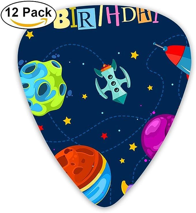 Púas para Guitarra de Feliz cumpleaños, 12 Unidades: Amazon.es ...
