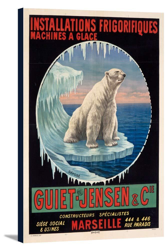 Guiet – Jensenヴィンテージポスターフランス 24 x 36 Gallery Canvas LANT-3P-SC-58567-24x36 24 x 36 Gallery Canvas  B0184AYZG2