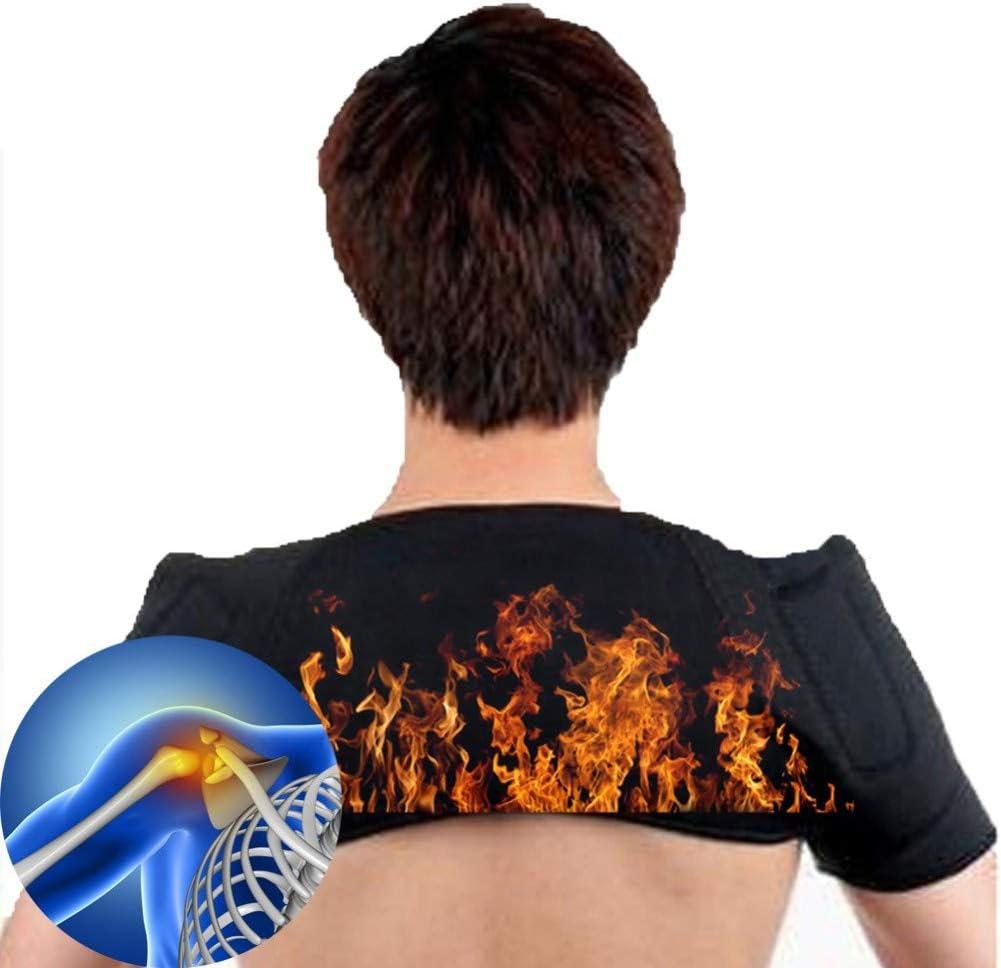 YXCA Heating Blanket Autocalentamiento Cuello Hombro Terapia Magnética Hombro Cálido Soporte Masajeador Hombros para Hombres Y Mujeres