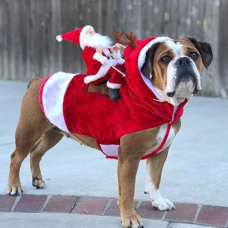 BELUPAI Disfraz de Papá Noel para Mascotas, Disfraz de Papá ...
