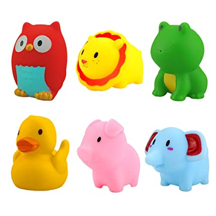 Amazon.com : WIKI 1-2 Year Old Girls Gifts, Soft Rubber Bath Toys ...