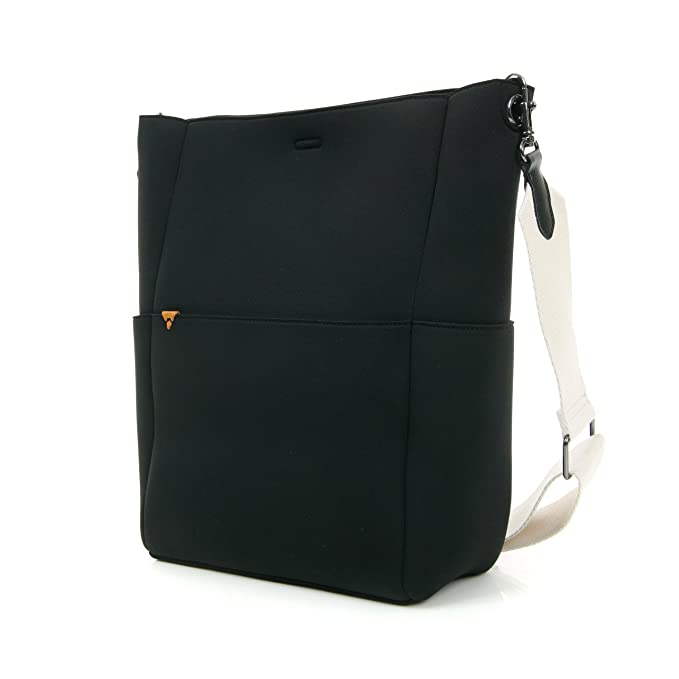 Amazon.com: t.b.t. Mujer Blanco y Negro neopreno Crossbody ...