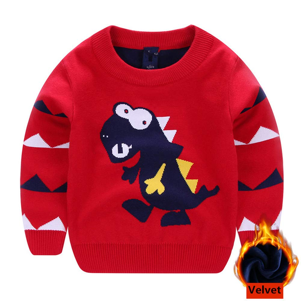 Sweetbaby Little Boys Girls Dinosaur Sweater Pullover Baby Xmas Clothes