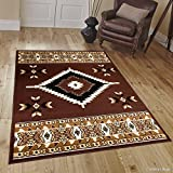 Allstar 8 X 11 Dark Brown Woven Southwestern Geometric Area Rug (7′ 7″ X 10′ 6″) Review