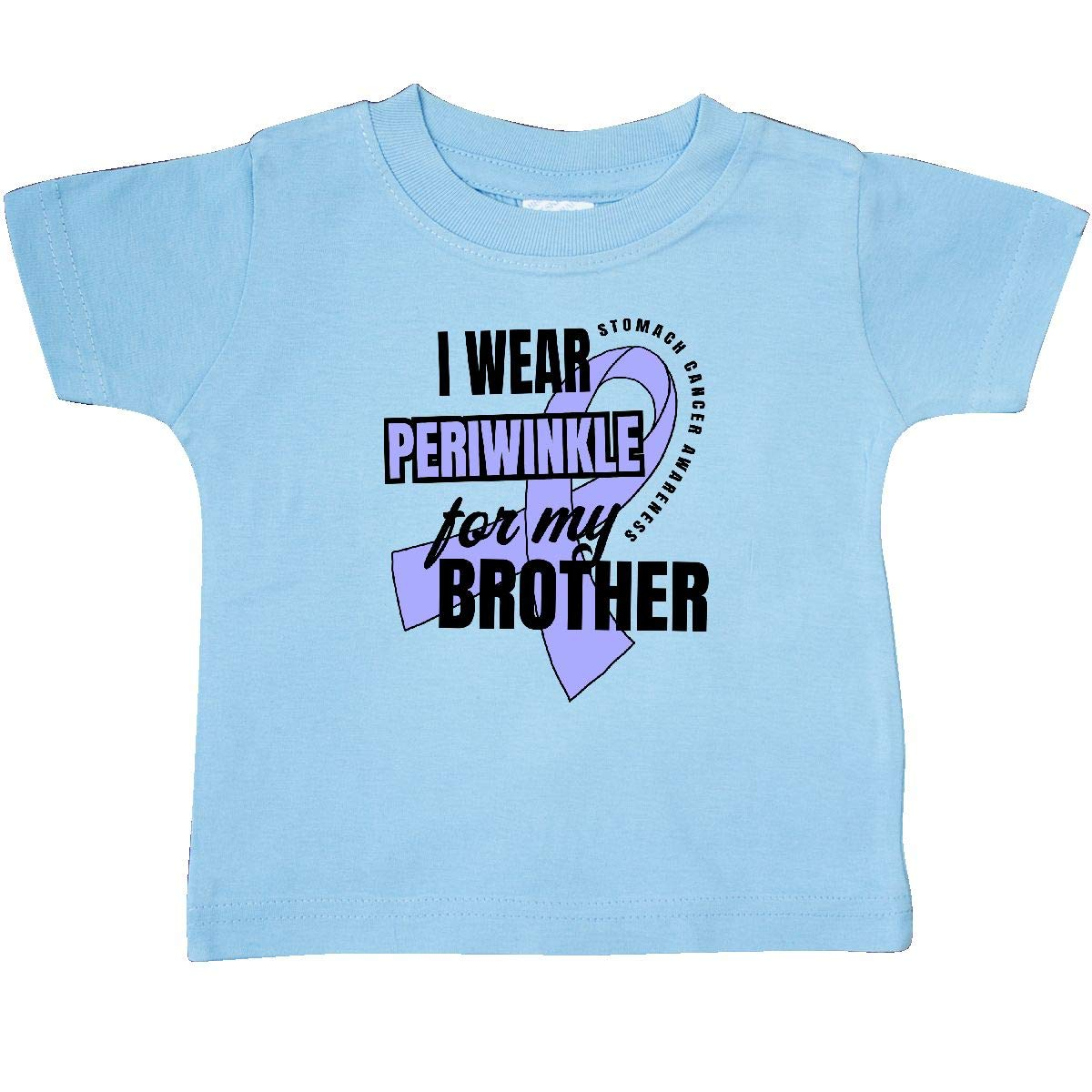 inktastic I Wear Periwinkle for My Brother Stomach Cancer Awareness Baby T-Shirt