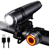 FARRIDE USB Rechargeable Bike Lights, 300LM Bike Headlight and Tail Light set, Ultra Bright CREE LED Bicycle Light Front…